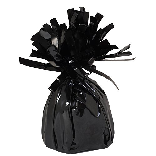 Foil Balloon Weights Black Package of 6 Birthday Party Supplies Decorations ()