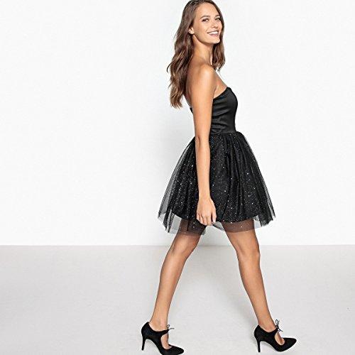 Tull La Mademoiselle Schwarz R Unterteil Frau Mit Aus Stass Bustierkleid Verziert Redoute x5rr7nwqP0
