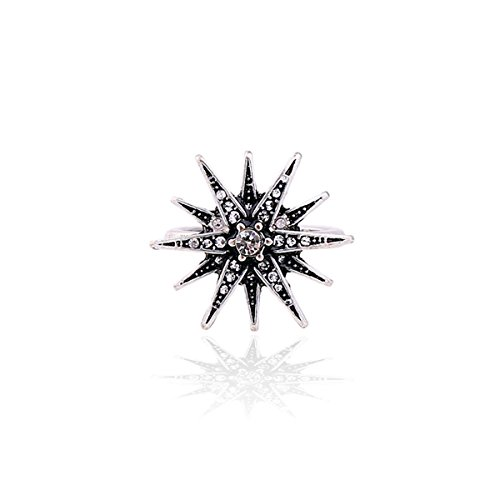 Joji Boutique Vintage-Style Silver Crystal Starburst Ring (size 6.5) from Joji Boutique