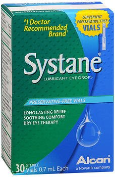 Systane Lubricant Eye Drops, Preservative-Free Vials - 30 ct, Pack of 2 (Vials Free Preservative)