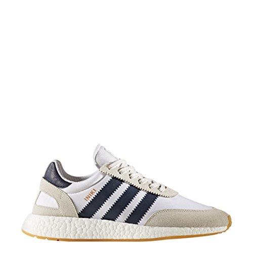 Adidas Man Iniki Löpare Wht / Marinblå / Gum1 Snörning 6
