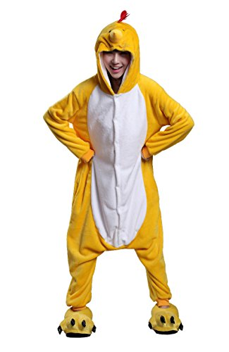 Sexy Chicken Costumes (FashionFits Unisex Adult Animal Costume Cosplay Pajama Chicken One Piece Pyjama XL)