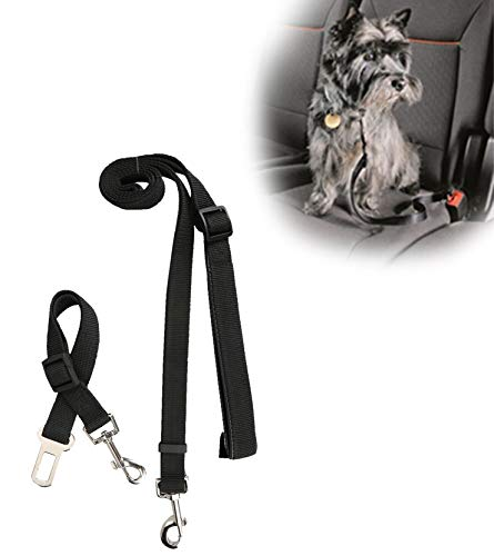 Durapower Pet Leash Dog Cat Car Seat Belt and Leash Strap - Dog Nylon Balls