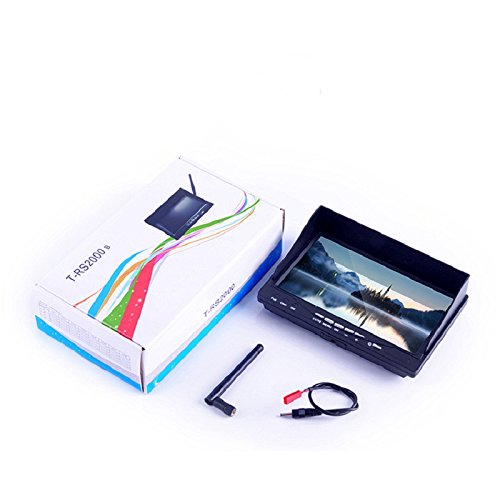 Eleganantstunning Specfly T-Rs2000B 5,8G 17,8 cm (7 Zoll) 32Ch HD Snowflake Screen Receiver Antenne Foto FPV Monitor eingebaute Batterie für RC Drohne with Battery (Built-in)