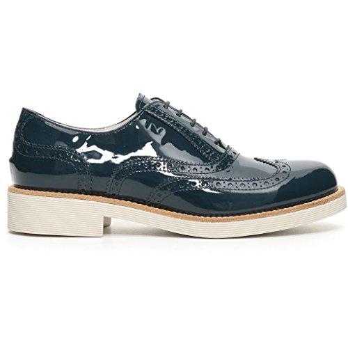 Sneakers femme Giardini basses Nero Bleu 0dt5qxBqw