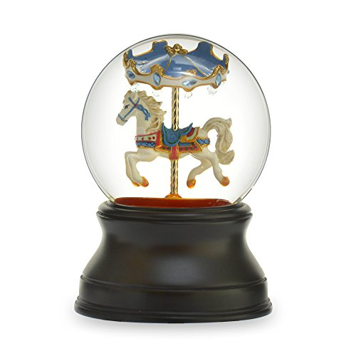 THE SAN FRANCISCO MUSIC BOX COMPANY Gemstone Carousel - Carousel Snow