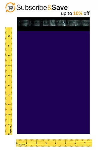 Poly mailers 7.5 x 10.5 Shipping bags 7 1/2 x 10 1/2 by Amiff. Pack of 100 Dark Blue Large envelopes. 2.5 mil thick mailing bags. Peel & Seal. Waterproof & Lightweight. Wrapping & Packing & Packaging. by Amiff (Image #2)