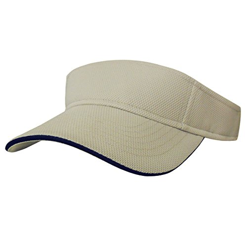 Nu-Fit Pique Mesh Fitted Visor with Sweatband (Spandex Bill Cap Sandwich)
