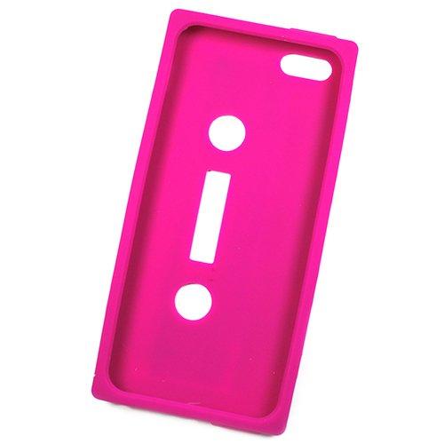 Acce2S Custodia protettiva rosa della pelle del silicone Case Custodia protettiva per Apple Iphone 5S, schiena Laser