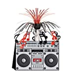 80's - Boom Box Centerpiece 14in. Pkg/3