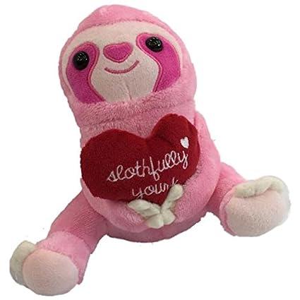 Amazon Com Animal Adventure Small Plush Pink Sloth Stuffed Animal