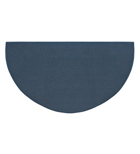48 Rectangle Hearth (Fire Retardant Fiberglass Half Round Hearth Fireplace Area Rug Polyester Trim Non Slip Mat Low Profile Protects Floors from Sparks Embers Logs 27 W x 48 L Blue)