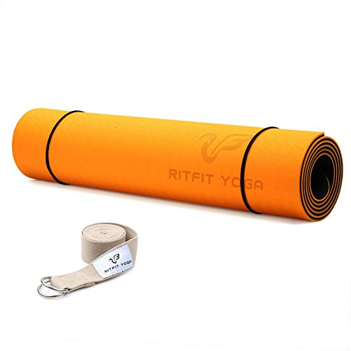 RitFit Non Slip Yoga Mat (Orange)
