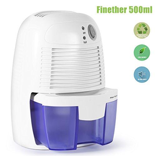 Portable Dehumidifier, 500ML Compact Mini Air Dehumidifier for Damp, Small...