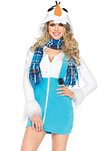 Leg Avenue Women's Cozy Snowman Costume, White,