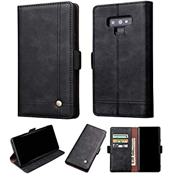 8deff9433564 Galaxy Note 9 Wallet Case - Premium Leather Wallet Case with ID Card Holder  Flip Magnetic Closure Cover for Samsung Galaxy Note 9 Phone Black
