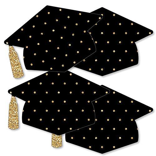 Gold - Tassel Worth The Hassle - Grad Cap Decorations DIY Graduation Party Essentials - Set of -