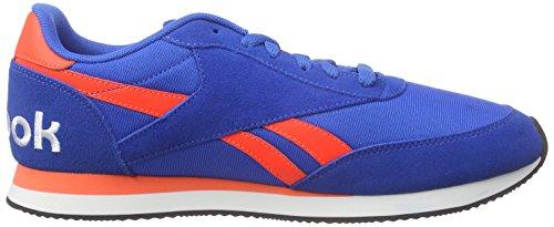 Reebok Royal CL Jog 2RS Zapatillas de running, Hombre Azul / Rojo / Negro / Blanco (Blue Sport / Atomic Red / Black / White)