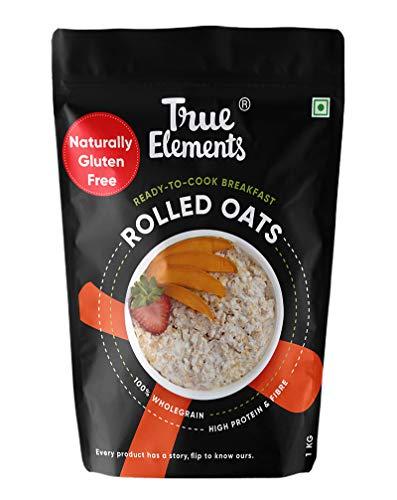 True Elements Rolled Oats Naturally Gluten Free 1 kg   Breakfast Cereal