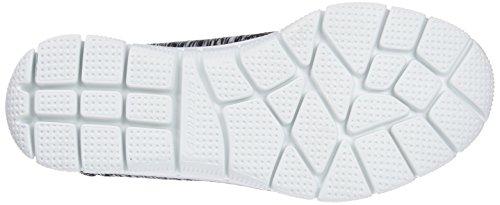 Skechers Empire On Negro Black sin Mujer Game Zapatillas White Cordones para TgwqTx