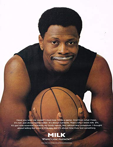 "Patrick Ewing - Got Milk ? - Magazine Ad - Year 1996-11"" x 8"" Teen Magazine Poster Pinup Clipping"