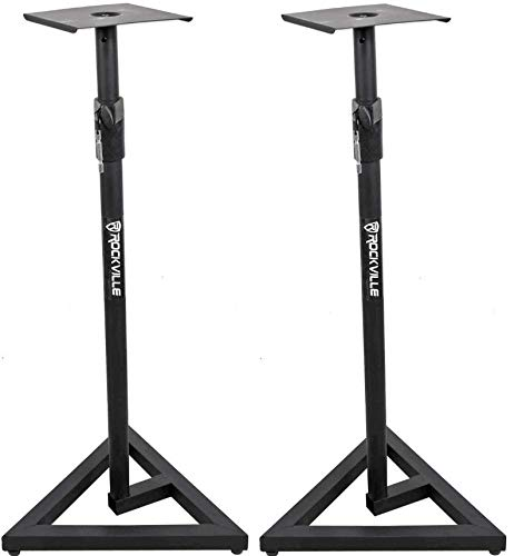 Rockville RVSM1 Pair of Near-Field Studio Monitor Stands w/Adjustable Height
