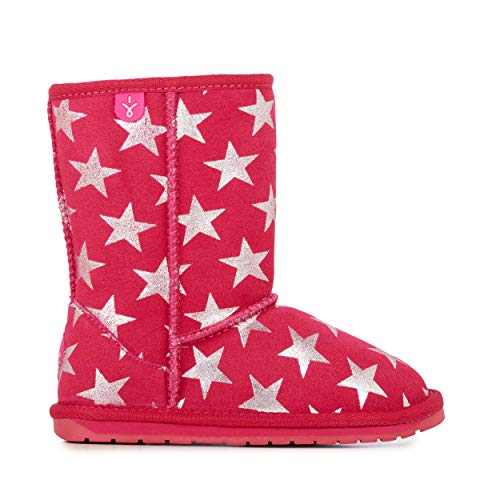 (EMU Australia Kids Starry Night Deluxe Wool Boots Size 1 Fuschia)