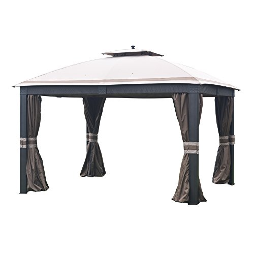 (Sunjoy Replacement Canopy Set (Deluxe Fabric) for 10x12ft Wicker Gazebo)