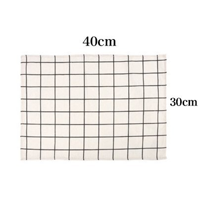 MOMO Cotton Plaid Placemats Photography Photo Background Baking Cloth 4,AA