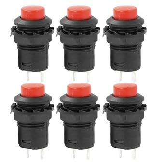 eDealMax plástico Rojo soldadura pulsador PCB AC125V 3A 250V AC 1.5A 6 piezas: Amazon.com: Industrial & Scientific