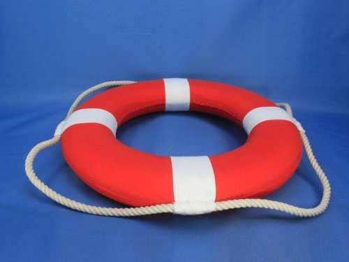 Hampton Nautical Decorative Vibrant Red Lifering with White Bands, 15 inches by Hampton Nautical (Image #9)