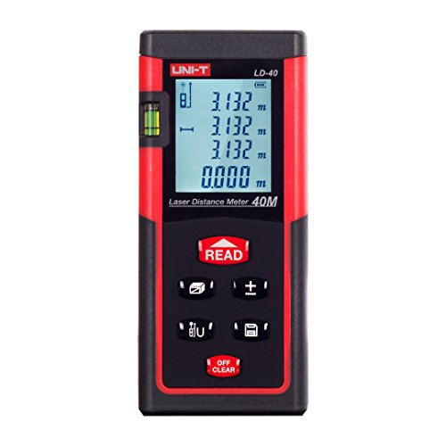 UNI-T LD40 Digital Laser Distance Meter 40 Meters 131 feet Range Finder Measure Diastimeter
