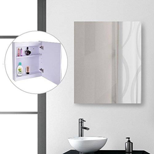 LED Wall Cabinet Mirror Medicine Cabinet Bathroom 2 Compartments Ajustable