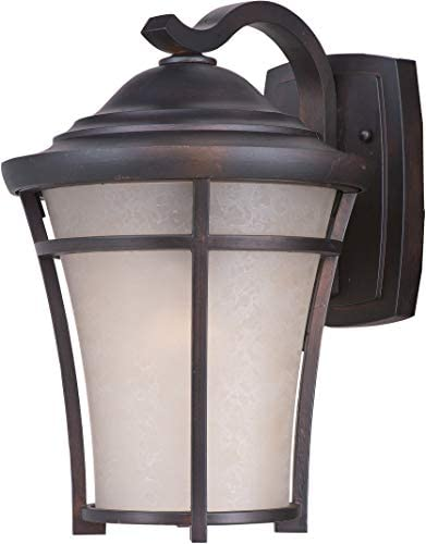 Maxim 55506LACO Balboa DCLace Glass Outdoor LED Wall Sconce, 1-Light 12 Watt, 17 H x 12 W, Copper Oxide