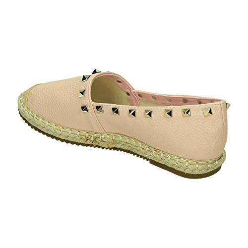 Bequeme Sommer Damen Riemchen Espadrilles Sandalen Sandaletten Schuhe 6J Pink 2