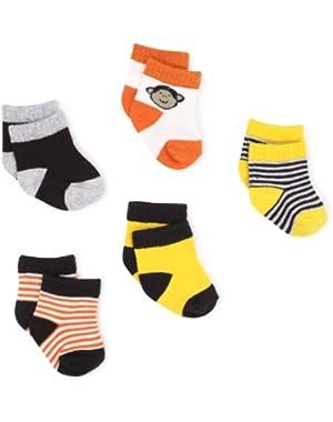 Carter's Hosiery Baby-boys Newborn Six Pack Monkey Sock