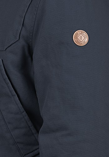 Jacket Cotton with Solid Winter Blue Made Jacket 100 Outdoor Men's of Teddy Insignia 1991 Fleece Forster with Hood p6YnnAgxX