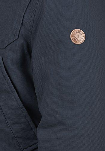 Coton solid Mouton Insignia 1991 D'extérieur Forster D'hiver De À Veste Blue Peau Blouson 100 Homme Capuche rrw7X