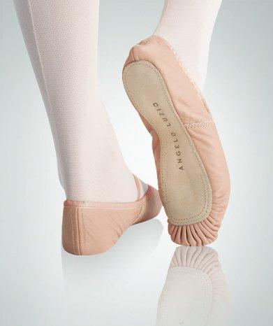 Body Wrappers 201c Childrens Tegelzetter Volledige Enige Lederen Geplooid Ballet Slipper (theatrale Roze, 8.5 W Us)
