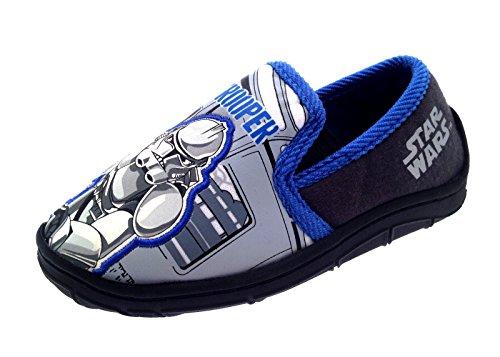 Disney Chicos Niños Star Wars Clon Soldado Pantuflas Zapatos Número RU 7-1 Clone Trooper - Boxed