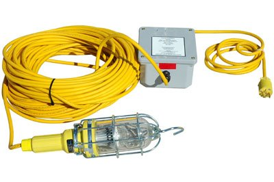 Vapor Proof LED Hand Lamp w/Inline Transformer VAC to VDC - 10 Watt LED - 50' SOOW Cord ()