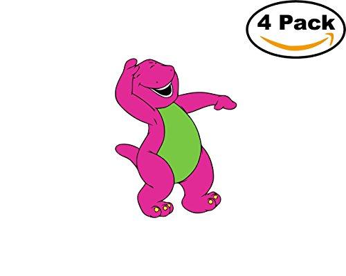 Barney And Friends 4 Stickers 4x4 Cartoon Car Bumper Window Sticker Decal_7