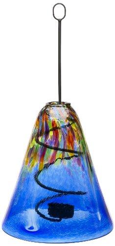 Kitras Art Nouveau Hanging Lantern, Blue