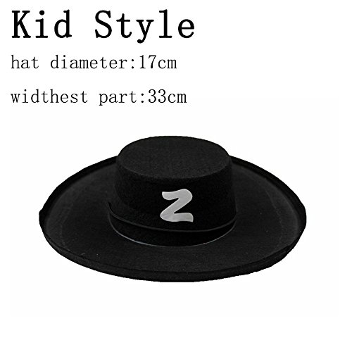 Autumn Water Halloween Cosplay Costume Accessories Skull Hat Caribbean Pirate Hat Skull Pirate Hat Piracy Hat Zorro Cap Party For Adult Kid ()