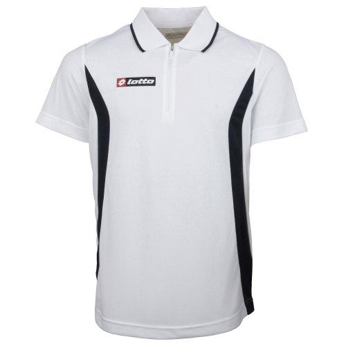 Lotto Mens Sports Football Polo Stars HZ Official Shirt (XL) (White/Navy)
