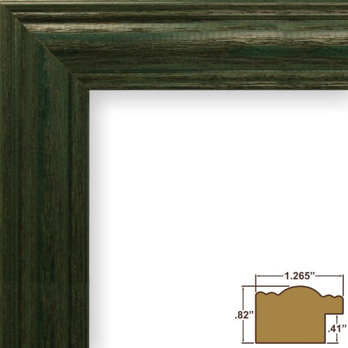 Craig Frames 440GR 24 by 36-Inch Picture Frame, Wood Grain Finish, 1.265-Inch Wide, - Green Grain Wood