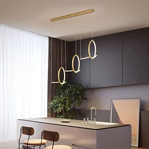 -Household Chandelier, Acrylic Iron Chandelier, Modern Minimalist Creative Restaurant Study Nordic Office Chandelier Pendant Light (Color : A)