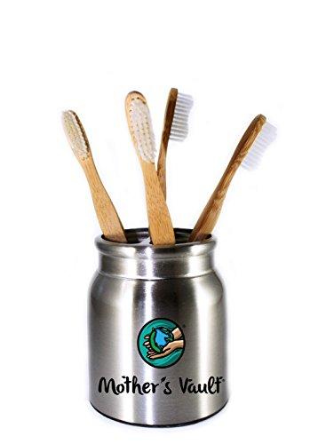 Mother's Vault Biodegradable, Eco-Friendly Bamboo Toothbrush (Children's 6inch) w/ BPA-Free Soft Nylon Bristles - Natural Dental Care for Men & Women (4 Toothbrushes) by Mother's Vault (Image #1)