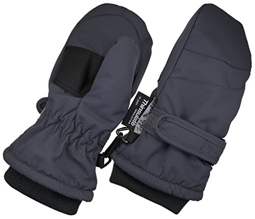Children Toddlers and Baby Mittens Made With Thinsulate,and Fleece - Winter Waterproof Gloves By Zelda Matilda, Dark Gray, 2 - 3 Years