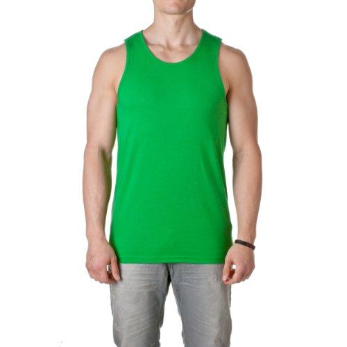 Green Sleeveless Cotton Shirt (Next Level 3633 Mens Jersey Tank - Kelly Green - L)